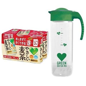 DA・KA・RA(グリーンダカラ)やさしい麦茶 濃縮タイプ (180g×6缶)+ポット 1セット /...