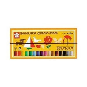 サクラクレパス クレパス太巻16色 LP16R/ サクラ クレヨン