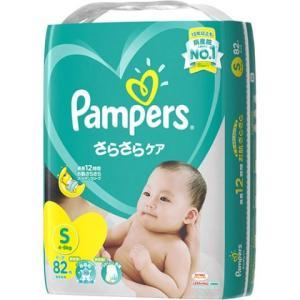 P&G パンパース さらさらケア(テープ) スーパ−ジャンボ S82枚×4個セット/ パンパース テ...