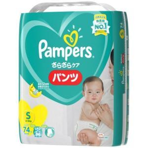 P&G パンパース さらさらケア パンツ スーパ−ジャンボ S74枚×4個セット/ パンパースパンツ...