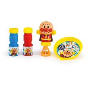 アンパンマンの人形を握ると、しゃぼん玉が飛び出す/シャボン玉
