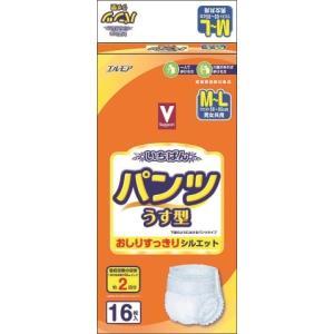 Vサポート いちばん パンツうす型 M〜L16枚 (4個セット 1ケース)/ 介護オムツ 大人用紙おむつ パンツ (毎)|v-drug