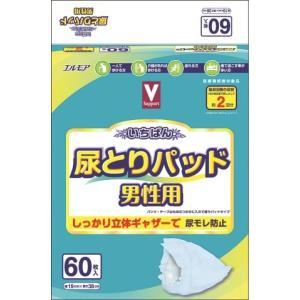 Vサポート いちばん 尿とりパッド男性用 60枚 (4個セット 1ケース)/ 介護オムツ 大人用紙おむつ 尿とりパッド (毎)|v-drug