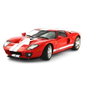 フォード GT レッド/ホワイトストライプ (1/18 オートアート73021)|v-toys