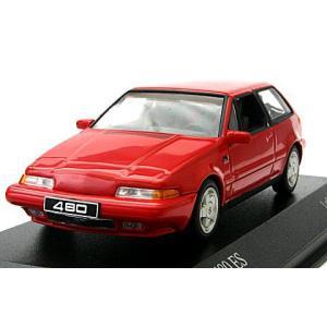 ボルボ 480 ES 1986 レッド (1/43 ミニチャンプス400171521)|v-toys