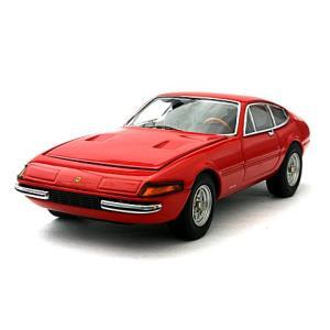 フェラーリ 365 GTB/4 デイトナ 後期型 レッド エンジン付 (1/43 京商K05052R)|v-toys