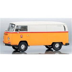 フォルクスワーゲン T2a ボックスバン 「PTT」 ホワイト/イエロー (1/43 エブロPCX11257)|v-toys
