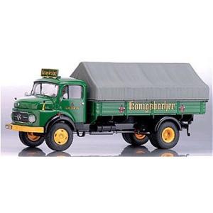 メルセデスベンツ L911 ピックアップトラック 「Konigsbacher」 グリーン/グレー (1/43 エブロPCX12055)|v-toys