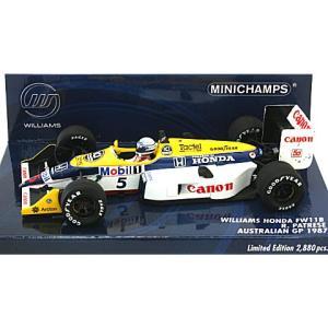 ウィリアムズ ホンダ FW11B オーストラリアGP 1987 パトレーゼ (1/43 ミニチャンプス400870095)