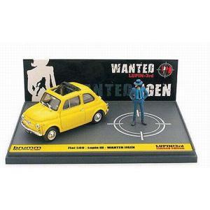 フィアット 500F ルパン三世 「WANTED」 次元大介 アクション フィギュア付 (1/43 ブルムL02)|v-toys