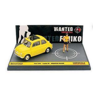 フィアット 500F ルパン三世 「WANTED」 峰不二子 アクション フィギュア付 (1/43 ブルムL01)|v-toys