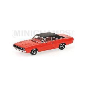 ダッジ チャージャー 1968 ブライトレッド (1/43 ミニチャンプス400144721)|v-toys