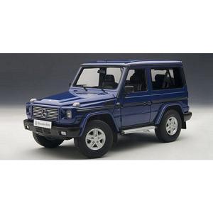 メルセデスベンツ G500 SWB ブルー (1/18 オートアート76114) v-toys