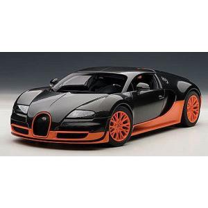 ブガッティ ヴェイロン スーパースポーツ カーボンブラック/オレンジ (1/18 オートアート70936)|v-toys