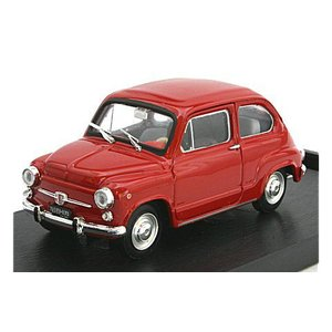 フィアット 600D ベルリナ 1965 レッド (1/43 ブルムR349-07)|v-toys