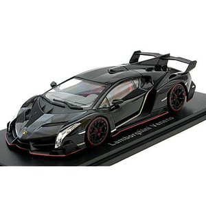 ランボルギーニ ヴェネーノ ブラック/レッドライン (1/43 京商KS05571BKR)|v-toys
