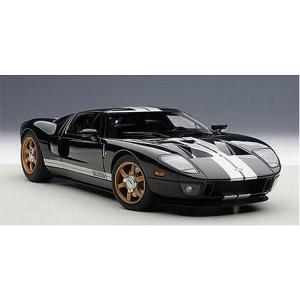 フォード GT ブラック/シルバーストライプ (1/18 オートアート73023)|v-toys