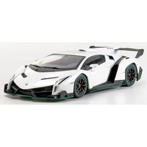 ランボルギーニ ヴェネーノ ホワイト/グリーンライン (1/18 京商KSC09501WG)|v-toys