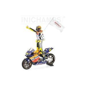 ホンダ RC211V チーム レプソル ホンダ V.ロッシ 2002 モトGP初優勝 フィギュア付 (1/12 ミニチャンプス122021046)|v-toys