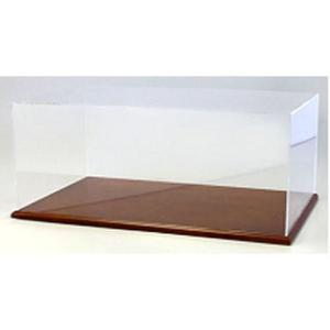 アクリルケース&木製ディスプレイベースセット (大) ブラウン (京商KS02070)|v-toys