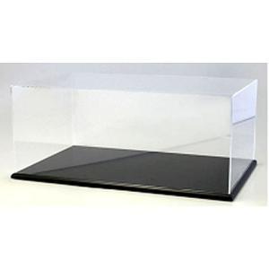 アクリルケース&木製ディスプレイベースセット (大) ブラック (京商KS02071)|v-toys