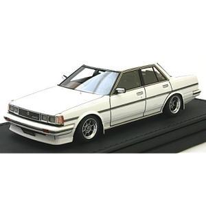 トヨタ クレスタ Super Lucent (GX71) ホワイト Hayashi-Wheel (1/43 イグニションモデルIG0681) v-toys