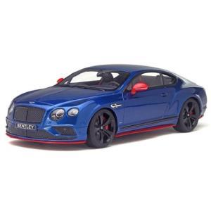 ベントレー コンチネンタル GT スピード ブラックエディション ブルー (1/18 GTスピリット GTS006KJ)|v-toys
