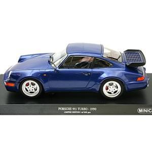 ポルシェ 911 ターボ (964) 1990 ブルーM (1/18 ミニチャンプス155069101)|v-toys