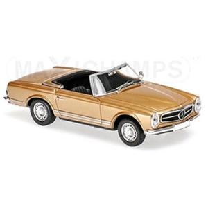 メルセデスベンツ 230SL 1965 ゴールドM (1/43 ミニチャンプス940032230)|v-toys