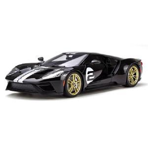 フォード GT ブラック/シルバーストライプ (1/18 GTスピリット GTS001US)|v-toys