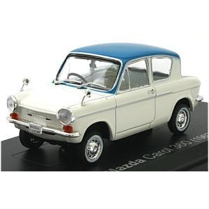 マツダ キャロル 360 (KPDA) 1962 ホワイト/ブルー (1/43 ノレブ800632)|v-toys