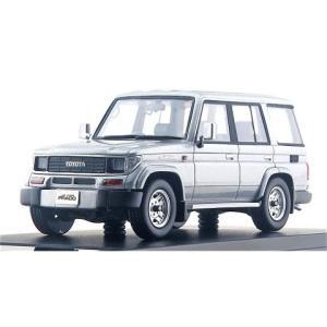 トヨタ ランドクルーザー 70 プラド SXワイド 1993 ブルーイッシュシルバーM (1/43 ...