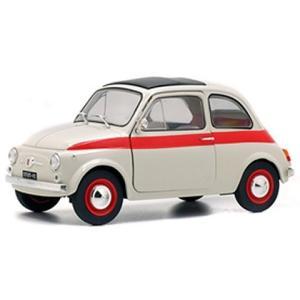 フィアット 500L 1960 ホワイト/レッド (1/18 ソリドS1801401)|v-toys