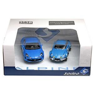 アルピーヌ A110 2台セット ブルー (1/18 ソリドS180001P)|v-toys