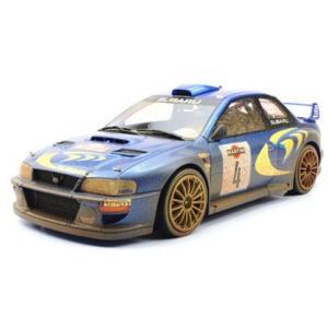 スバル インプレッサ S4 No4 サンマリノ2位 1998 汚し塗装 (1/18 トップマーケスTOP040CD)|v-toys