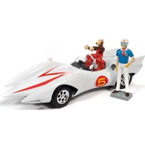 スピードレーサー マッハ5 スピードレーサー(三船剛)&チムチム(三平) フィギュア付 (1/18 オートワールドAWSS124) v-toys