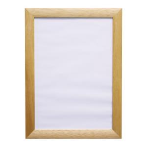アウトレット 在庫限り ポスター額 壁掛けフォトフレーム・額縁 木製アートフレーム A4 ナチュラル|v-vanjoh