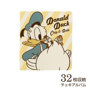 チェキ・カード ポケットアルバム フジカラー ディズニー チェキアルバム 32枚収納 ドナルド|v-vanjoh
