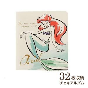 チェキ・カード ポケットアルバム フジカラー ディズニー チェキアルバム 32枚収納 アリエル|v-vanjoh