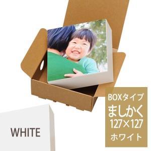 写真パネル・フォトパネル シャコラ(Shacolla)BOXタイプ ましかくサイズ(127mm×127mm) ホワイト フジ FUJIFILM|v-vanjoh