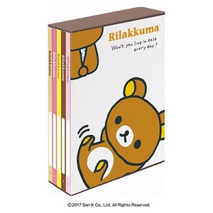 L判 ポケットアルバム サンエックス 5冊BOXポケットアルバム リラックマ ア-PL-1021-10 L3段210枚収納 ナカバヤシ|v-vanjoh