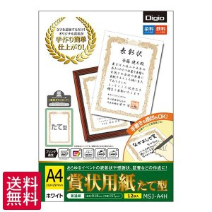 受発注商品 ナカバヤシ A4 たて型 12枚入 賞状用紙 MSJ-A4H(ゆうパケット発送)代引不可・同梱不可 送料無料|v-vanjoh