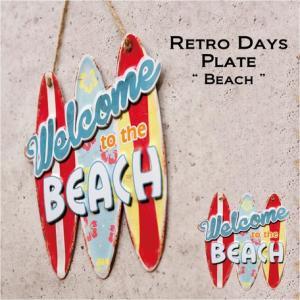 西海岸 サーフ雑貨 サーフボード ウェルカム オールデイズ アンティーク ボード 看板 エンボス|vacationclub