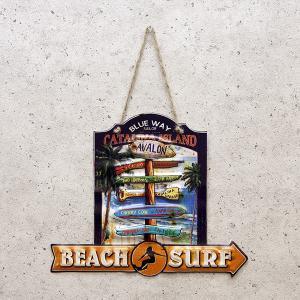 サーフ雑貨 西海岸 看板 壁掛け エンボス オールデイズ アンティーク ボード サインボード|vacationclub