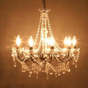 シャンデリア 9灯 ノックダウン 照明 軽量 ビーズ ランプ ヨーロピアン オリエンタル|vacationclub