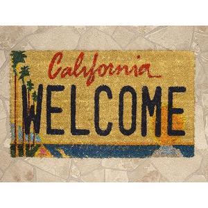 玄関マット ハワイアン アメリカン マット 生地 床マット コイヤーマット レクト ウエルカム California USA 西海岸 テラス エントランス|vacationclub