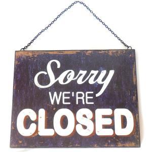 看板 開店 閉店 両面 壁掛け オープン クローズ お店 サインボード サイン カフェ 店舗用 木製|vacationclub