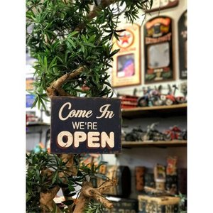 看板 開店 閉店 両面 壁掛け オープン クローズ お店 サインボード サイン カフェ 店舗用 木製|vacationclub|02
