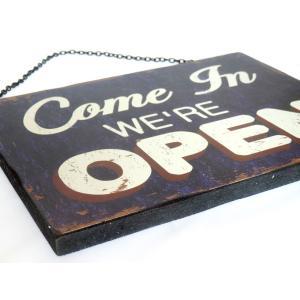 看板 開店 閉店 両面 壁掛け オープン クローズ お店 サインボード サイン カフェ 店舗用 木製|vacationclub|03