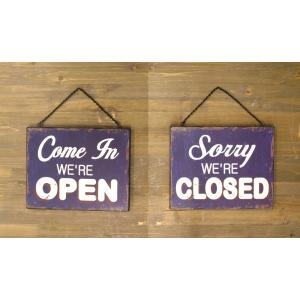 看板 開店 閉店 両面 壁掛け オープン クローズ お店 サインボード サイン カフェ 店舗用 木製|vacationclub|05